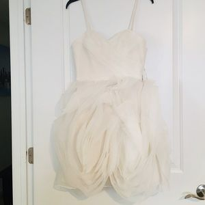 Very cute and sassy reception dress.